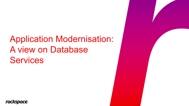 Application Modernisation: A View on Database Services