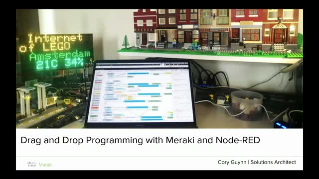 Drag and Drop Programming with Meraki and Node-RED