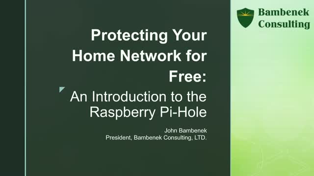 Protecting Your Home Network for Free: An Introduction to the Raspberry Pi-Hole