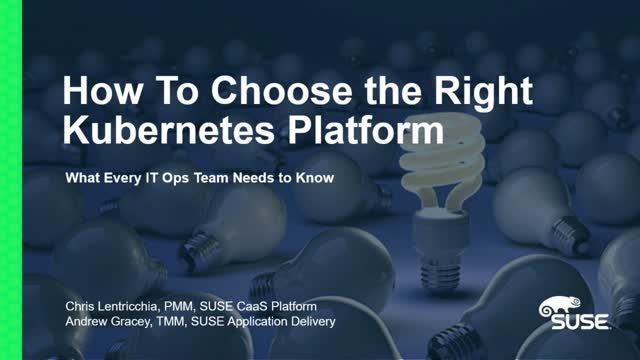 The Buyer's Guide to Kubernetes (4/4): Security and Cloud Native Deployments