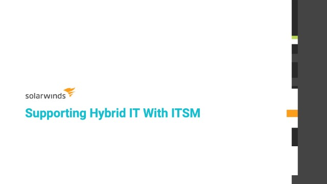 Supporting Hybrid IT With ITSM