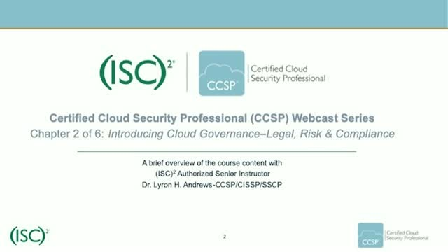 CCSP Webcast Series: Chapter 2 of 6