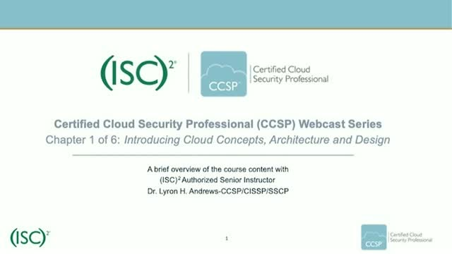 CCSP Webcast Series: Chapter 1 of 6