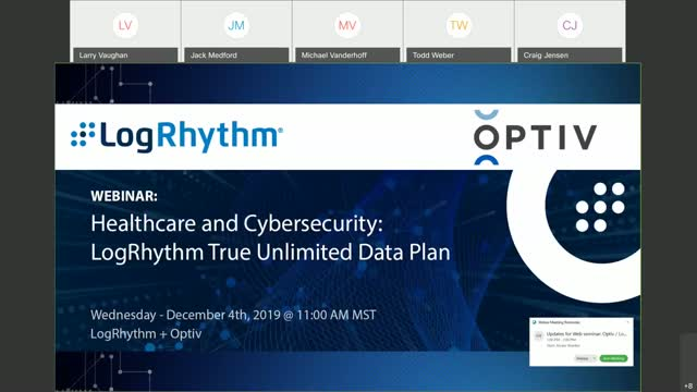 Optiv / LogRhythm Joint Webinar: Healthcare and Cybersecurity