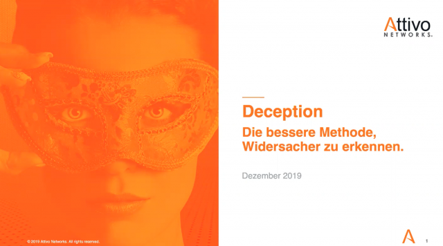German Webinar: Deception, die bessere Methode Widersacher zu erkennen!