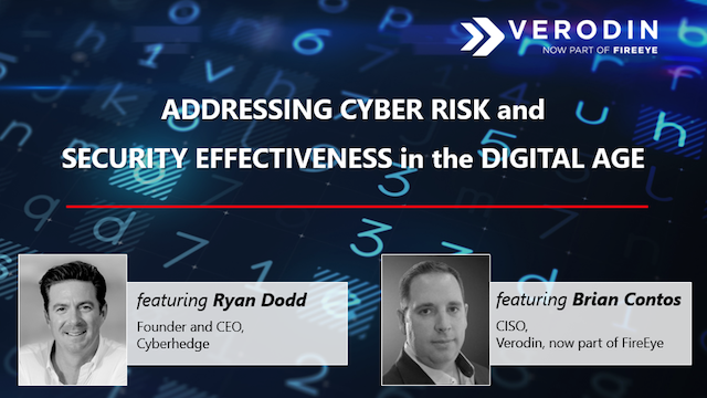 Addressing Cyber Risk and Security Effectiveness in the Digital Age