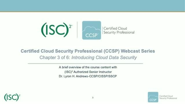 CCSP Webcast Series: Chapter 3 of 6