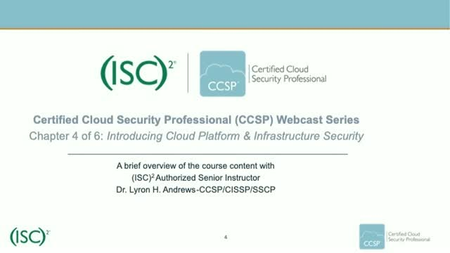 CCSP Webcast Series: Chapter 4 of 6