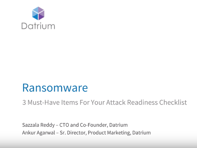 3 Must-Have Items for Your Ransomware Attack Readiness Checklist