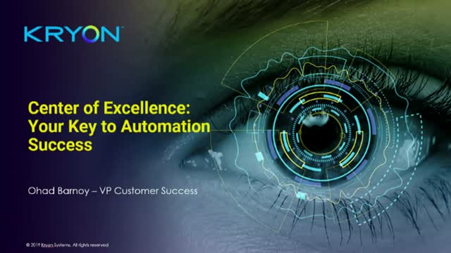 Center of Excellence – Your Key to Automation Success