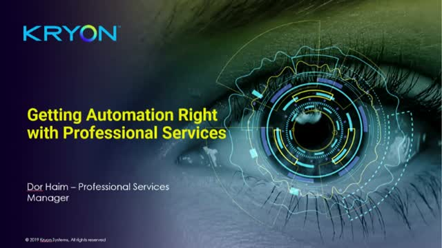 Getting Automation Right with Professional Services