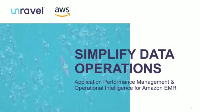 Application Performance Management & Operational Intelligence for Amazon EMR