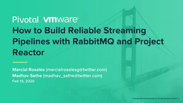 How to Build Reliable Streaming Pipelines with RabbitMQ and Project Reactor