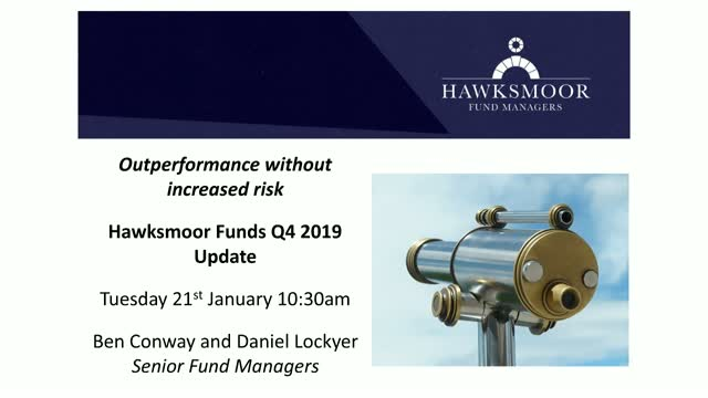 Outperformance without increased risk: Hawksmoor Funds Q4 2019 Update
