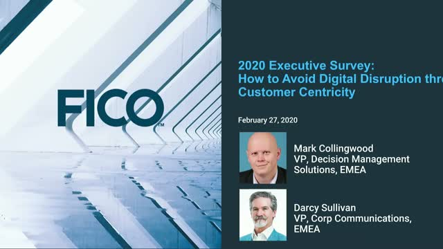 FICO Webinar: How to Avoid Digital Disruption in the Digital Age