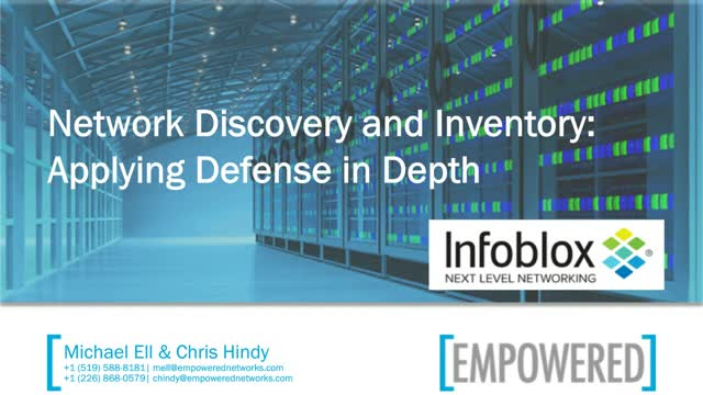 Network Discovery and Inventory: Applying  Defense in Depth