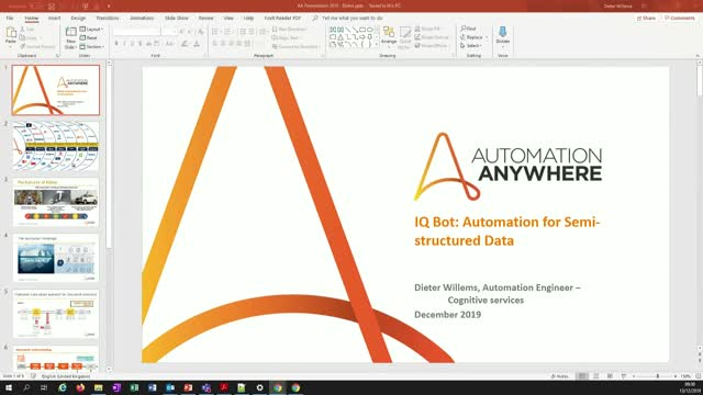 Dry run- AI and IQBot with Automation Anywhere, learn why AI makes a difference!