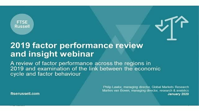 Factor Insights: 2019 performance and the link between behavior & economic cycle