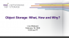 Object Storage: What, How and Why