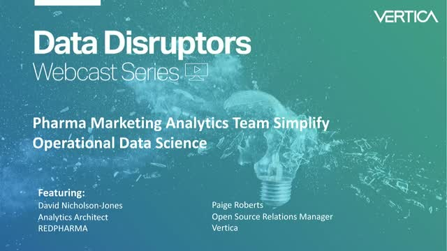 Pharma Marketing Analytics Team Simplifies Operational Data Science