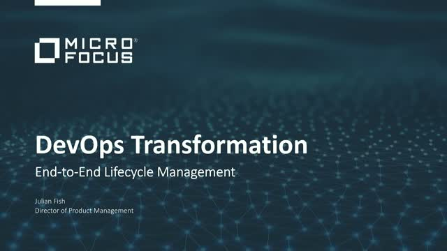 DevOps Transformation: End-to-End lifecycle management