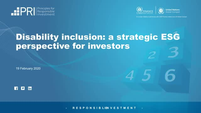 Disability Inclusion: a strategic ESG perspective for investors