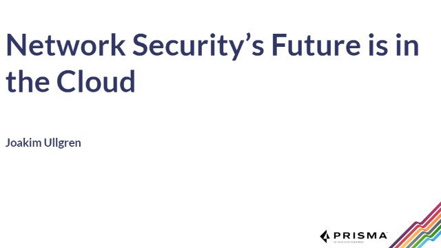 Network Security's Future is in the Cloud