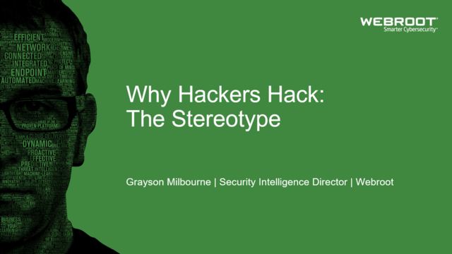 Why Hackers Hack: The Stereotype