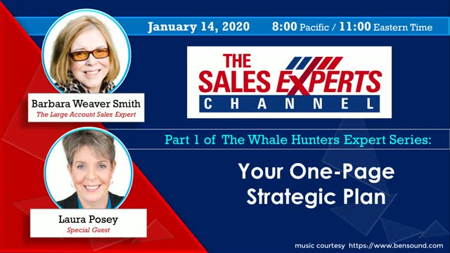 The Whale Hunters Expert Series: Your One-Page Strategic Plan