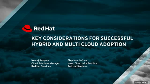 Key considerations of successful hybrid and multi cloud adoption