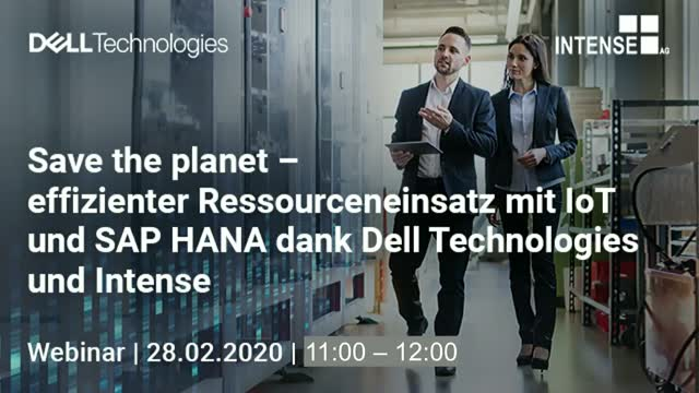 Save the planet – effizienter Ressourceneinsatz mit IoT und SAP HANA