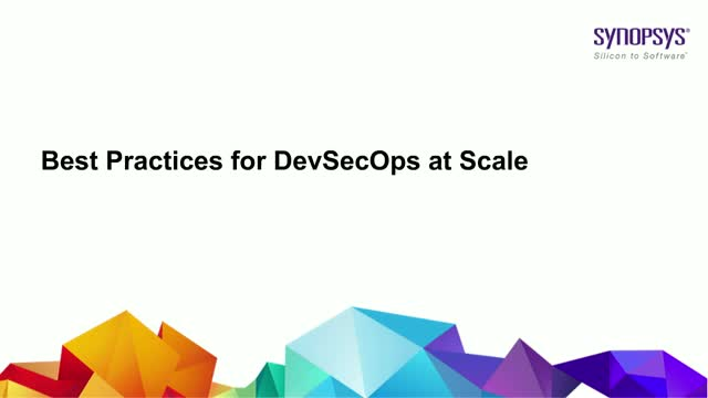 Best Practices for DevSecOps at Scale