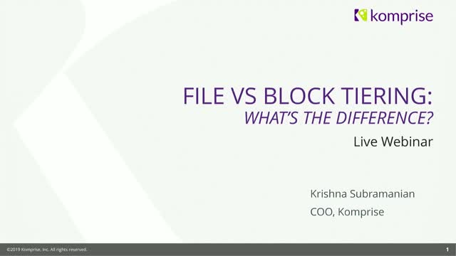Block-Level vs. File-Level Tiering – What's the Difference?
