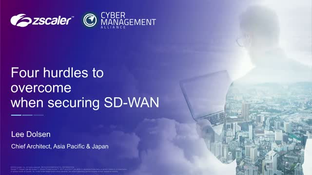 Four Security Hurdles with SD-WAN