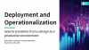 Deployment and Operationalisation of Data Science