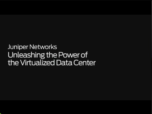 Unleashing the Power of the Virtualized Data Center Webcast