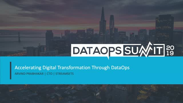 Accelerating Digital Transformation through DataOps