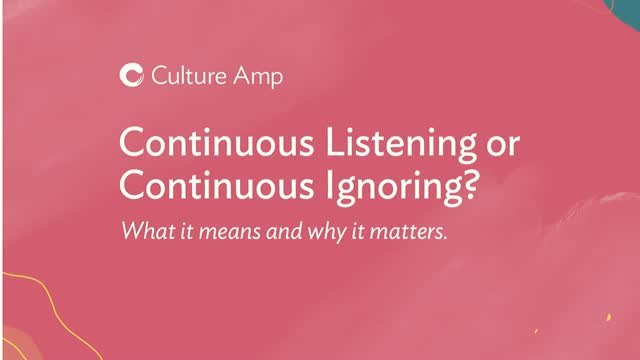 Continuous Listening or Continuous Ignoring: what it means and why it matters