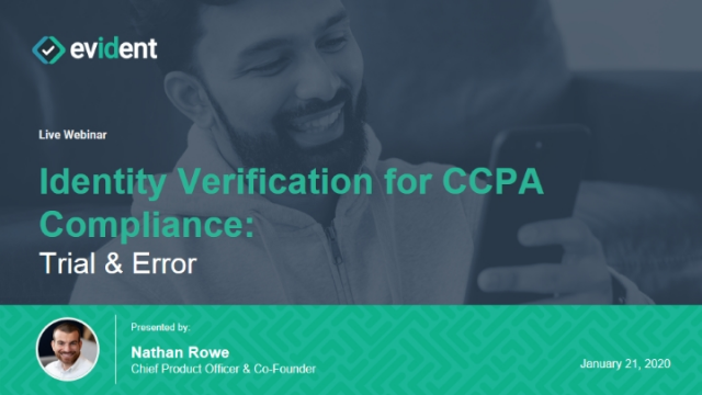 Identity Verification for CCPA Compliance: Trial & Error