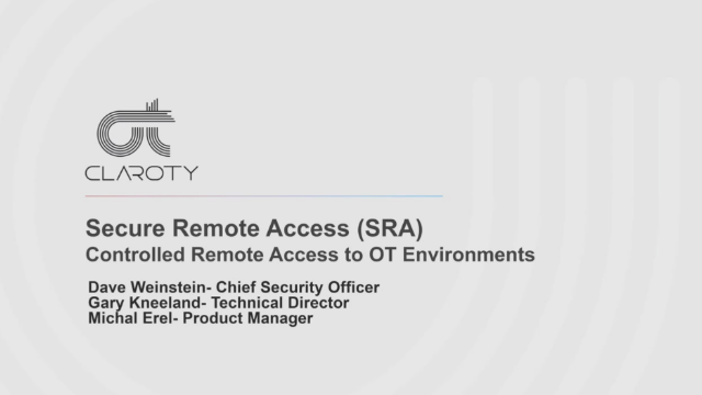 Controlled Remote Access to OT Environments