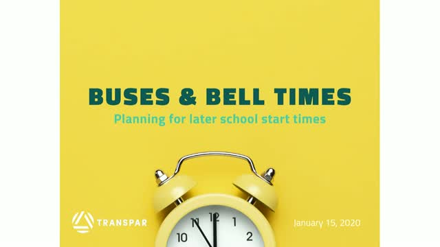 Buses & Bell Times: Planning for Later School Start Times