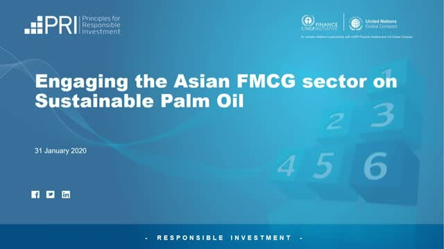 Engaging the Asian FMCG sector on Sustainable Palm Oil