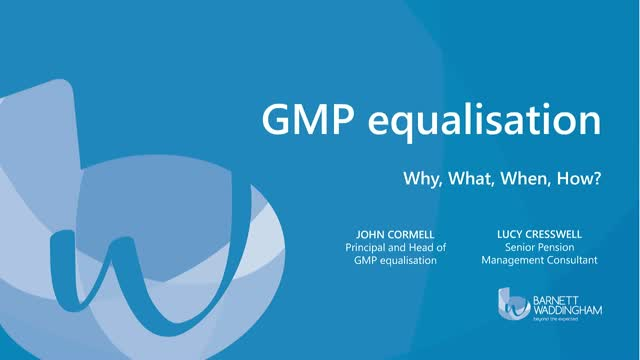 GMP Equalisation - why, what, when, how?