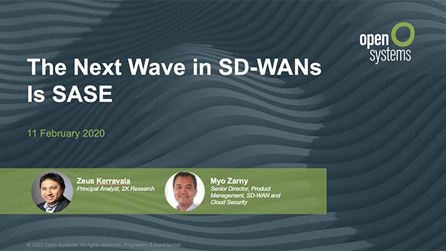 The Next Wave in SD-WANs is SASE