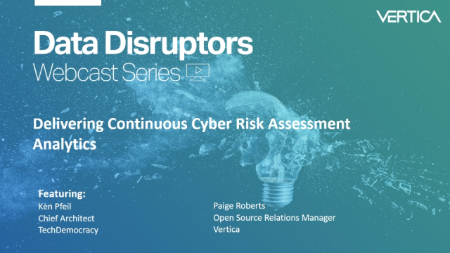 Delivering Continuous Cyber Risk Assessment Analytics