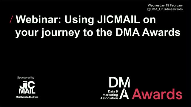 Webinar: Using JICMAIL on your journey to the DMA Awards