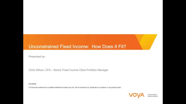 Unconstrained Fixed Income: How Does it Fit?