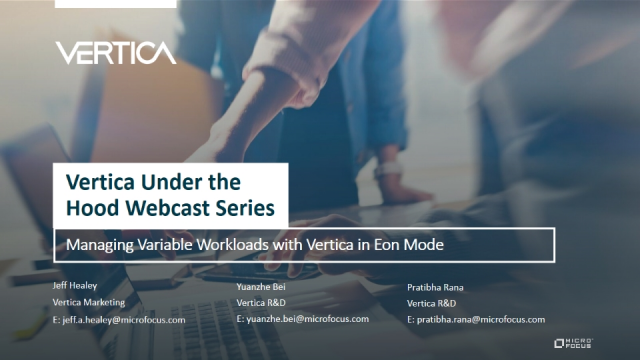Managing Variable Workloads with Vertica in Eon Mode