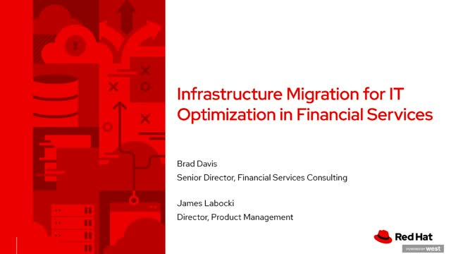 Infrastructure migration for IT optimization in financial service