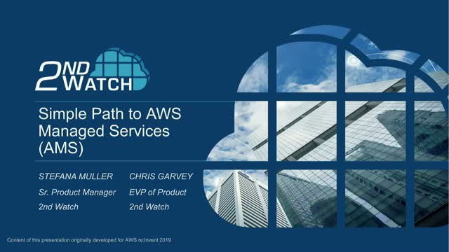 The Simple Path to AWS Managed Services (AMS)